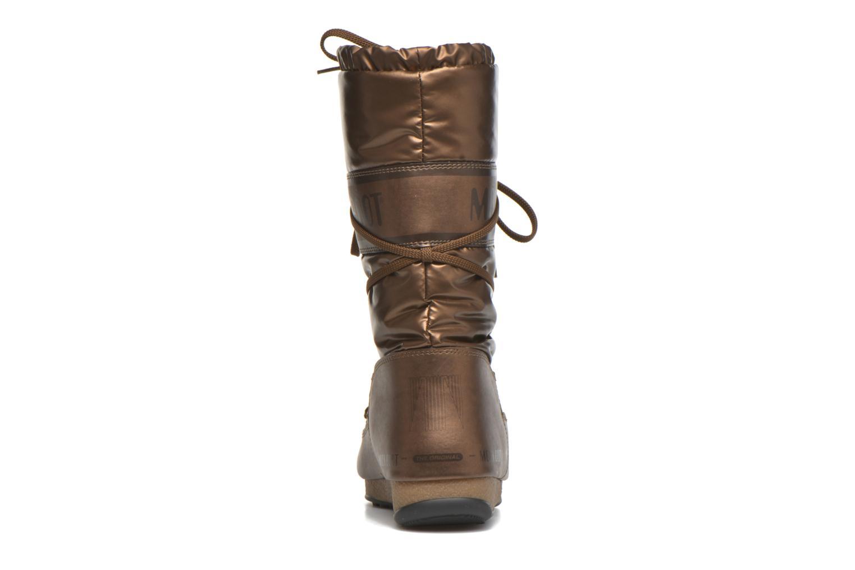 Botas Moon Boot Soft Met Oro y bronce vista lateral derecha