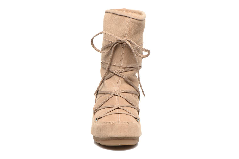 Stiefeletten & Boots Moon Boot Caviar Mid beige schuhe getragen