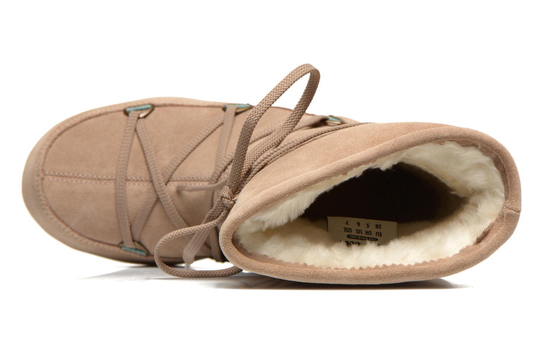 Stiefeletten & Boots Moon Boot Caviar Mid beige ansicht von links