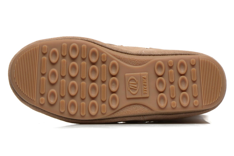 Bottines et boots Moon Boot Caviar Mid Beige vue haut