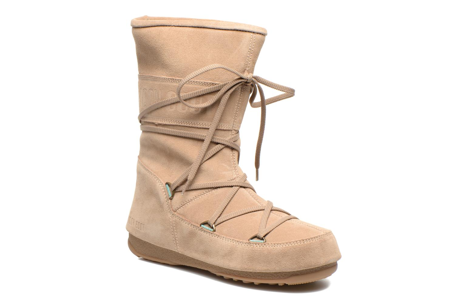 Ankle boots Moon Boot Caviar Mid Beige detailed view/ Pair view