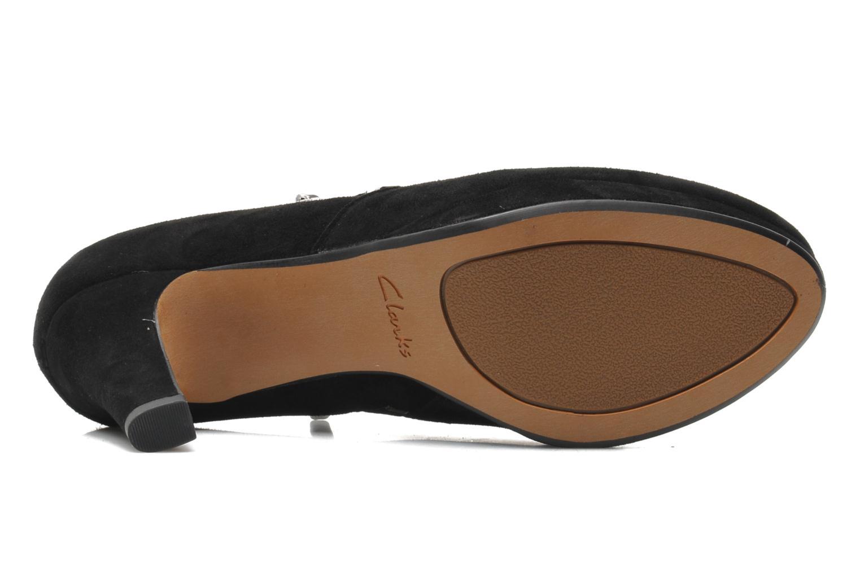 Bottines et boots Clarks Amos Kendra Noir vue haut