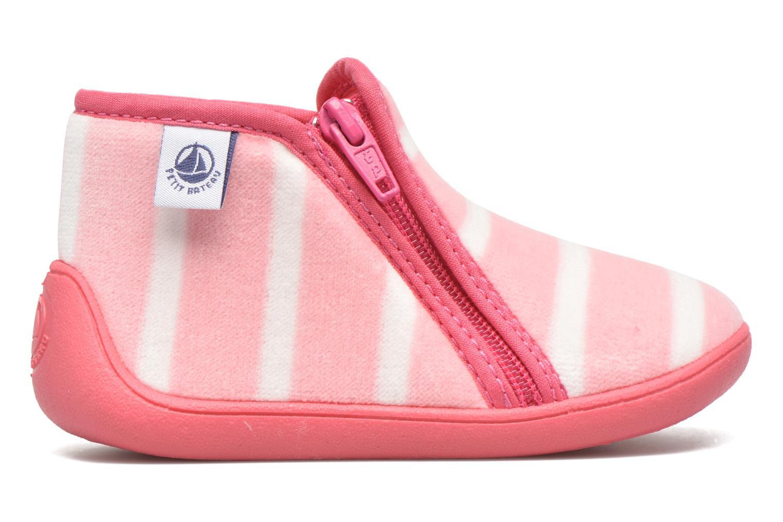 Hausschuhe Petit bateau PB Conte Rose rosa ansicht von hinten