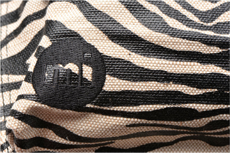 Premium Backpack Black/white Canvas Zebra