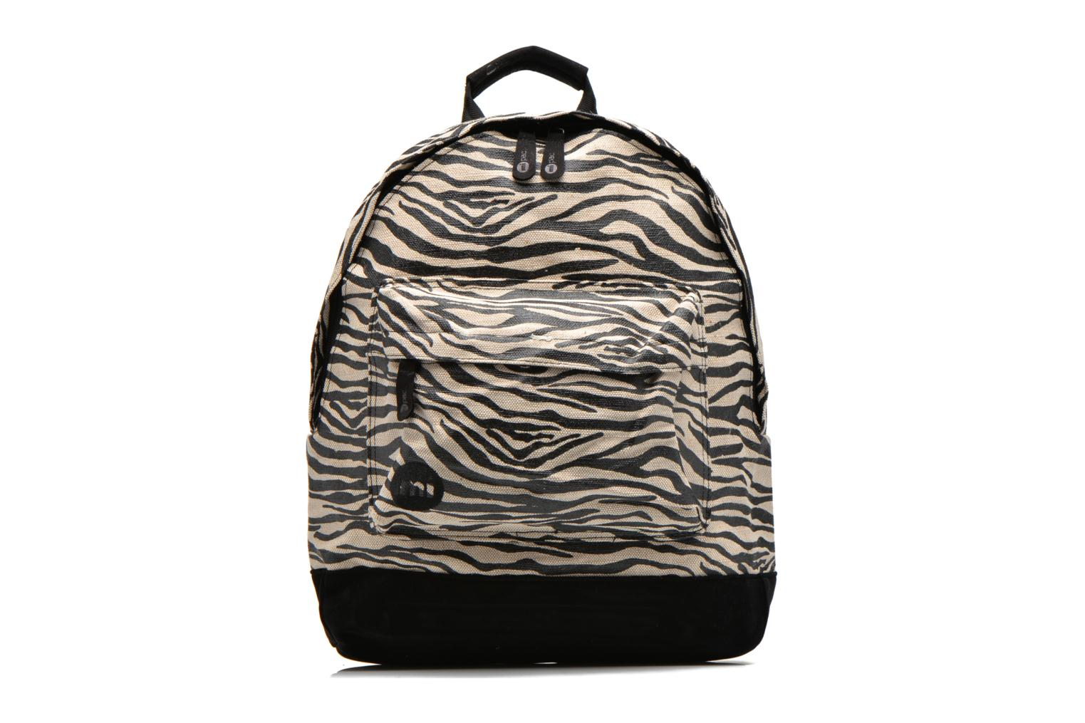 Premium Backpack Black/white Canvas Zebra