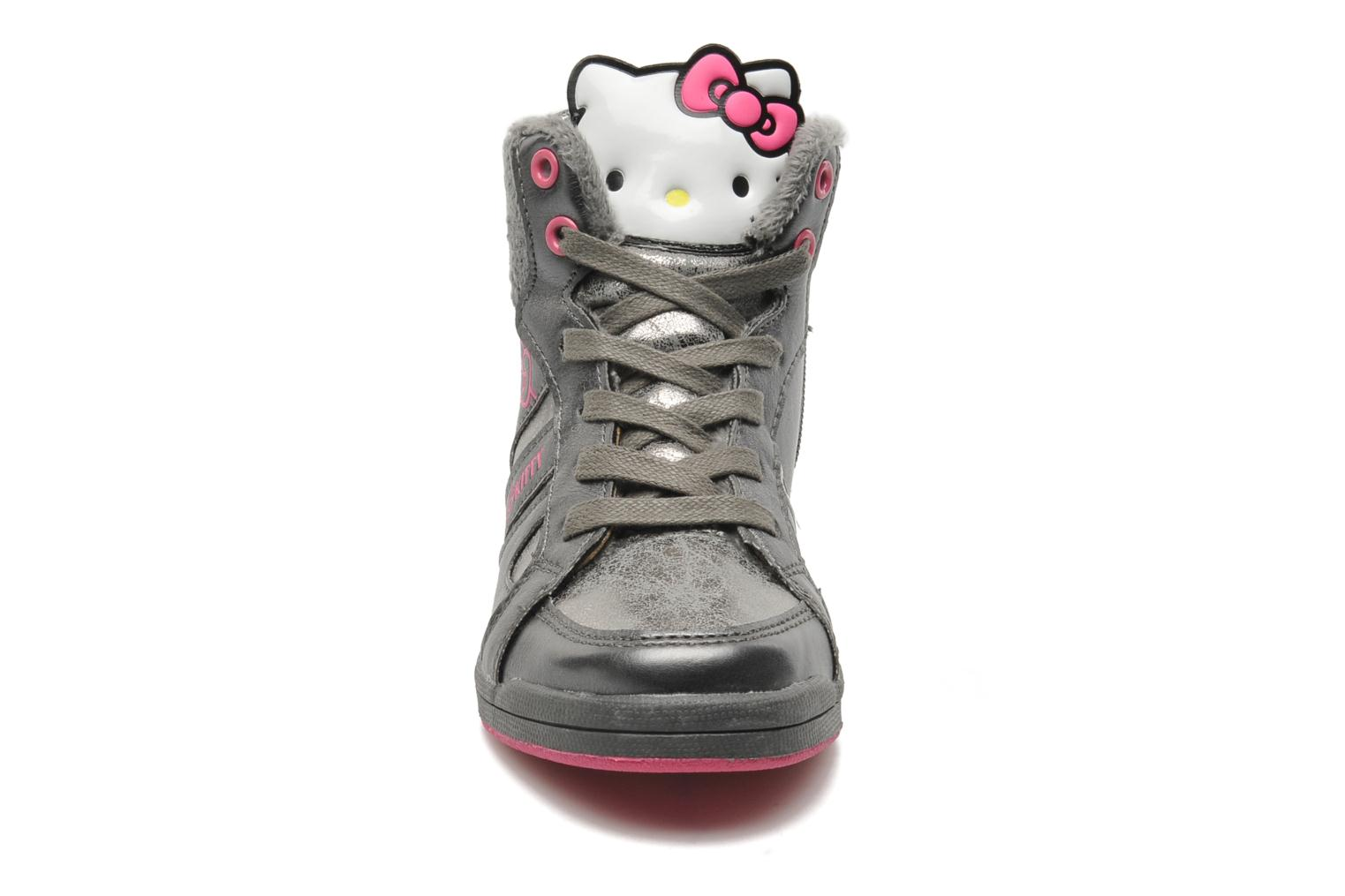 Baskets Hello Kitty HK France Gris vue portées chaussures