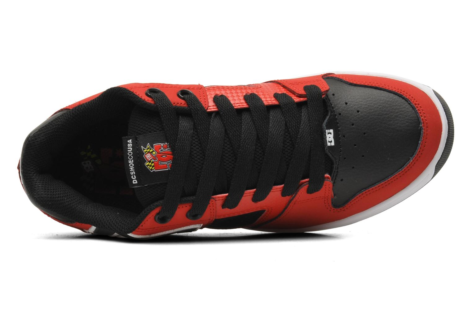 Baskets DC Shoes Sceptor Tp Rouge vue gauche