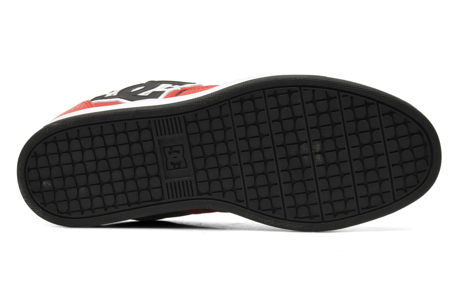 Baskets DC Shoes Sceptor Tp Rouge vue haut