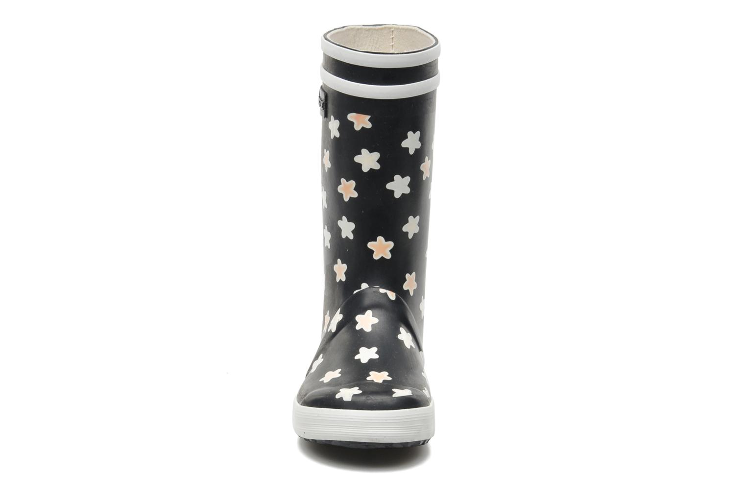 Boots & wellies Aigle Lolly Pop Print Blue model view