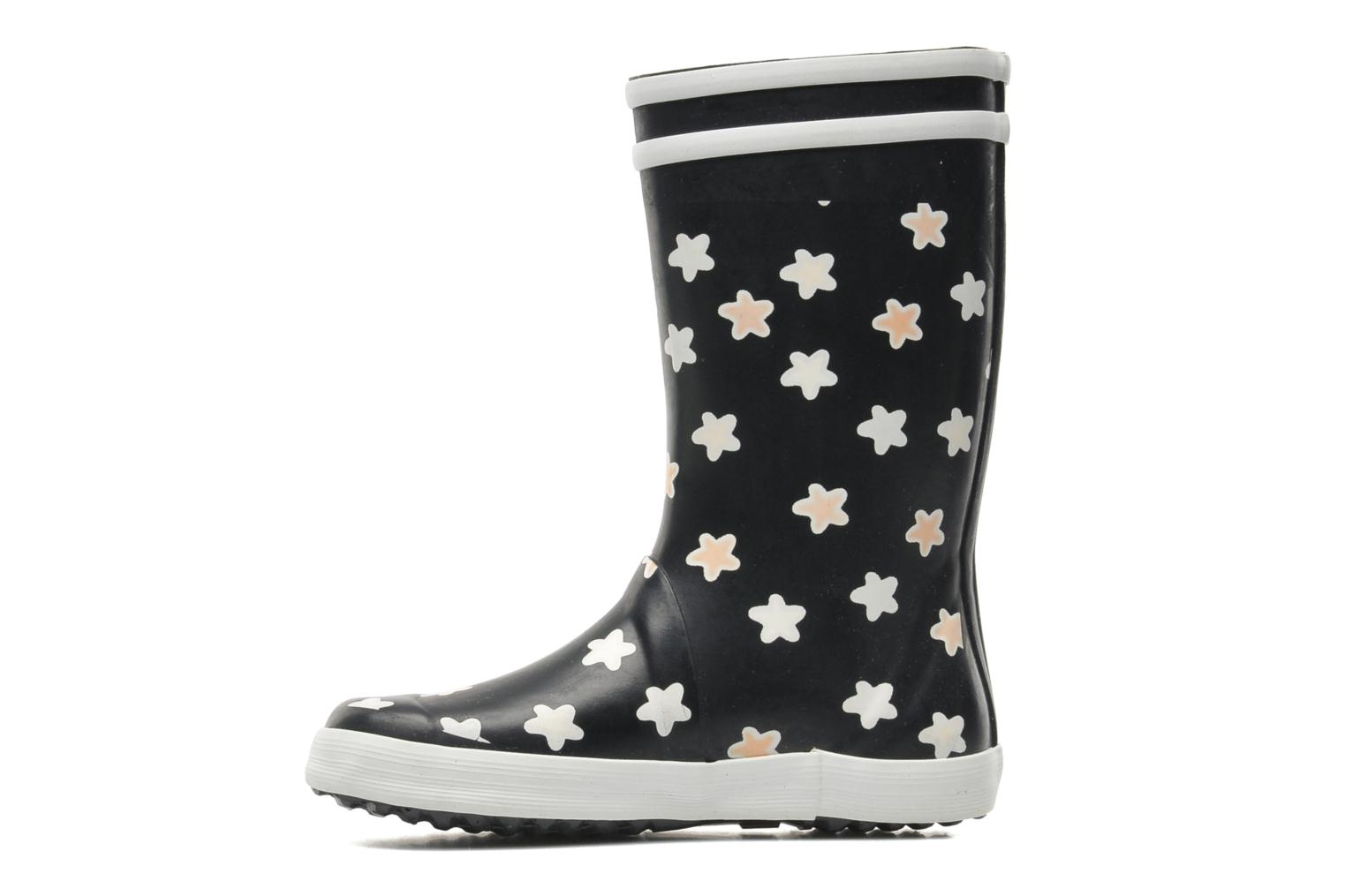 Boots & wellies Aigle Lolly Pop Print Blue front view