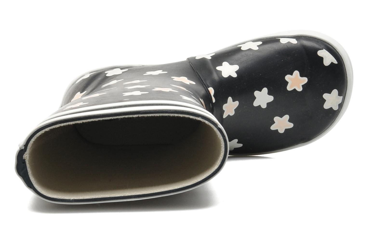 Boots & wellies Aigle Lolly Pop Print Blue view from the left