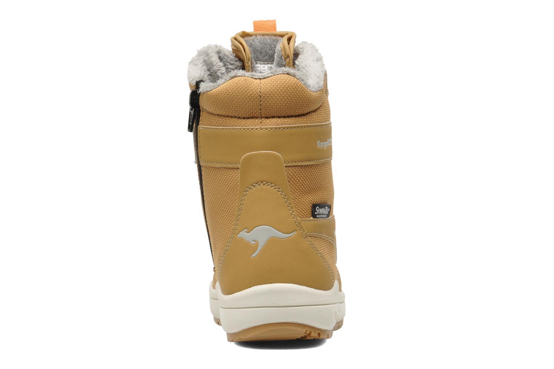 Botines  Kangaroos Kanga-Tex 2024 Amarillo vista lateral derecha
