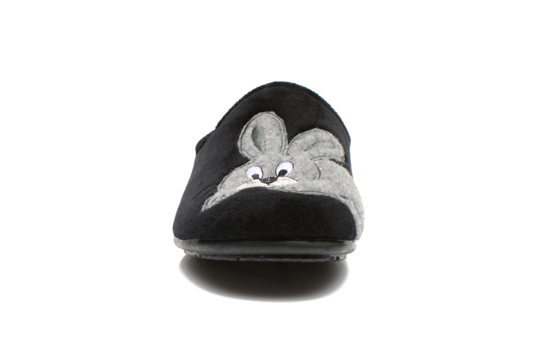 Chaussons La maison de l'espadrille Lou Noir vue portées chaussures