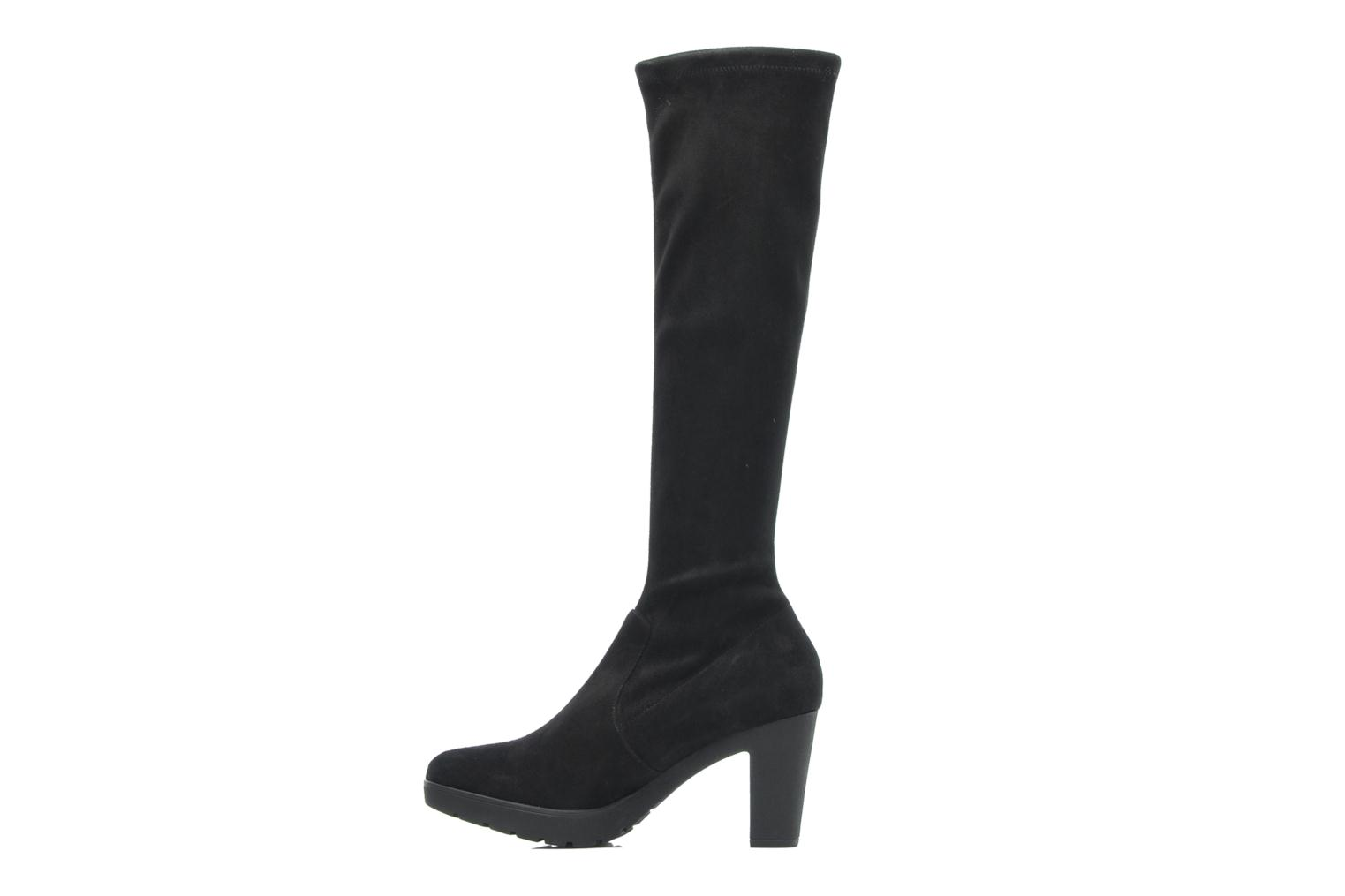 MINKA BLACK STRETCH SUEDE