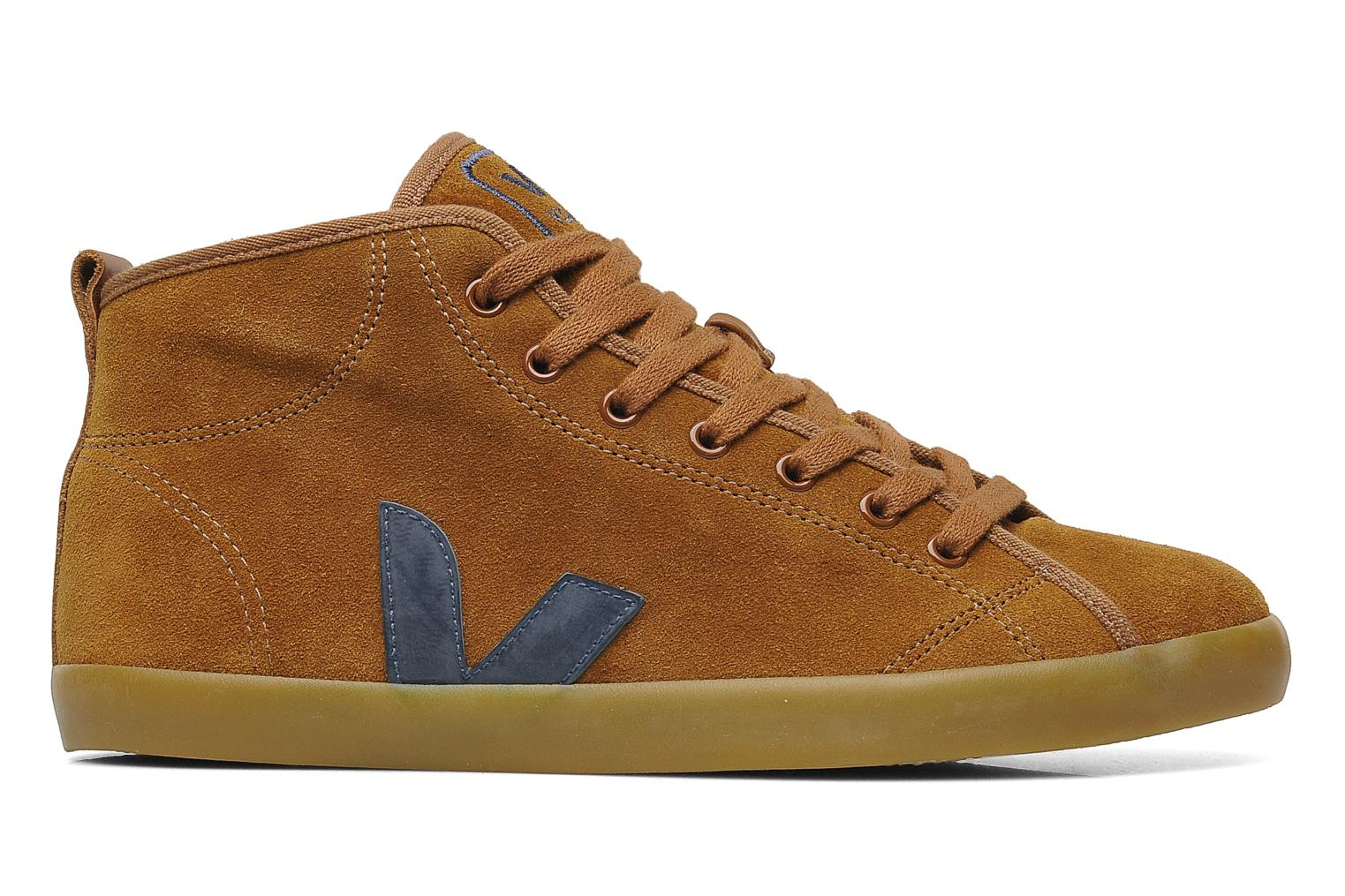 Trainers Veja Taua Mid Suede Fourre Brown back view