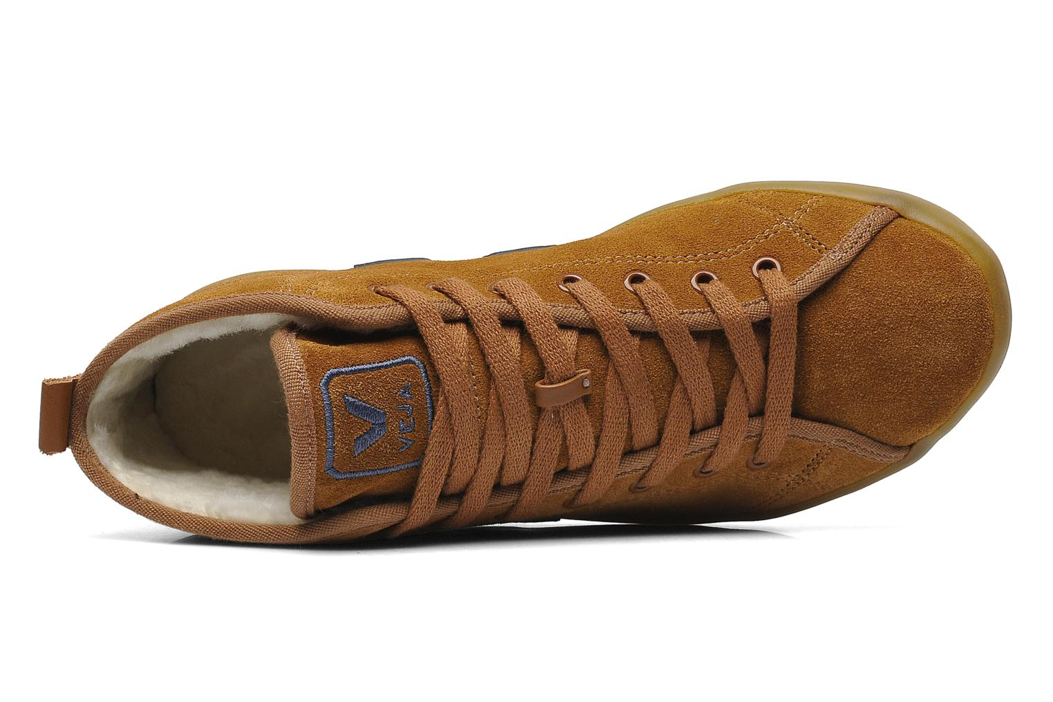 Sneakers Veja Taua Mid Suede Fourre Bruin links