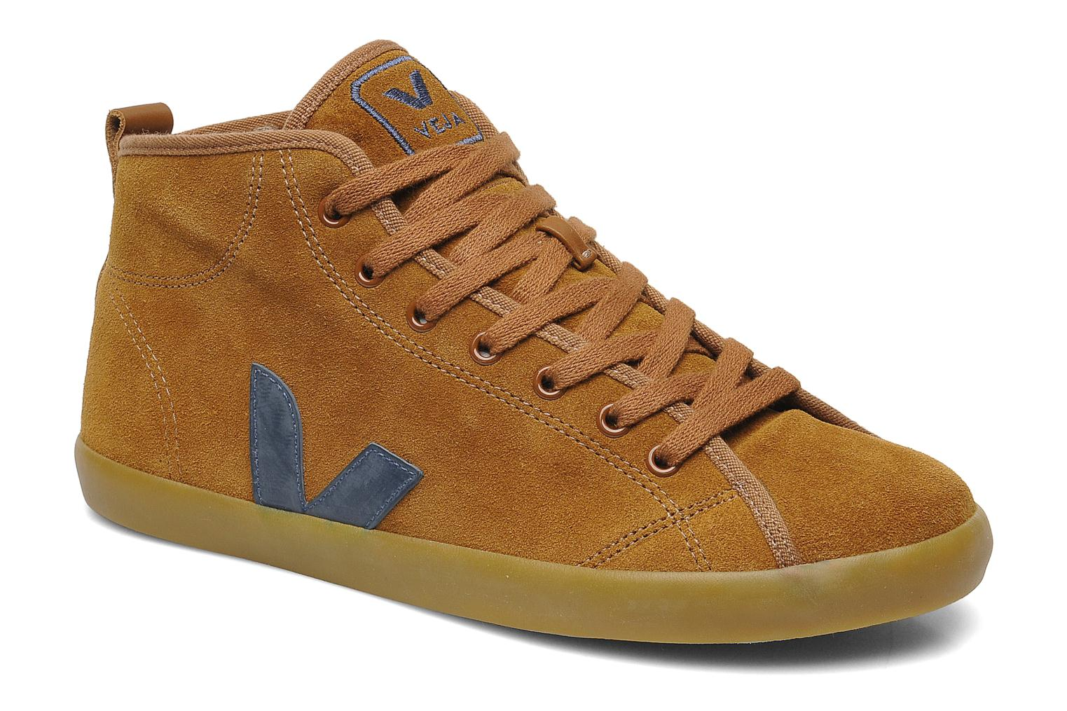 Trainers Veja Taua Mid Suede Fourre Brown detailed view/ Pair view