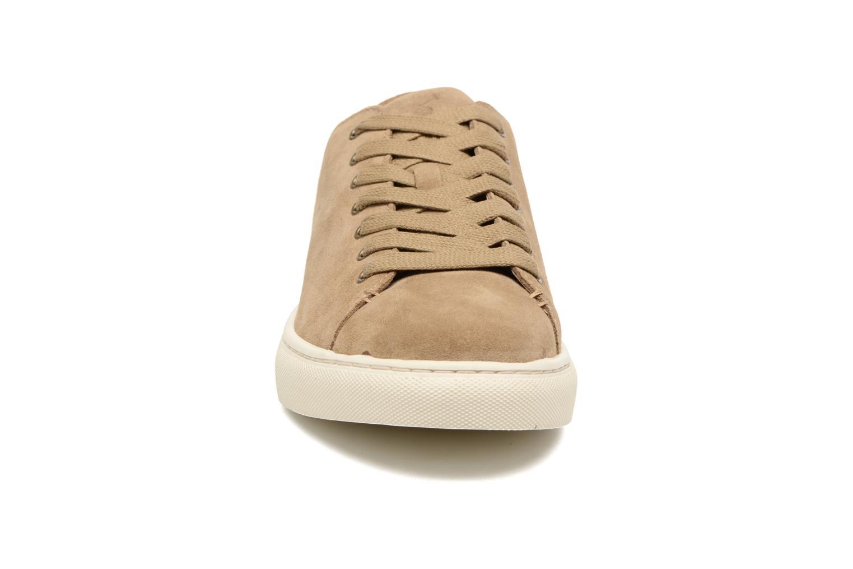Baskets Polo Ralph Lauren Jermain Marron vue portées chaussures