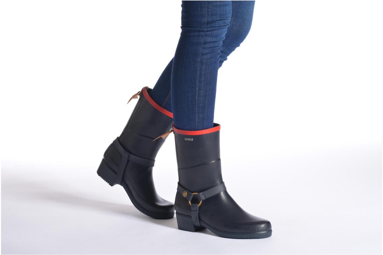 Bottines et boots Aigle Miss Julie Gris vue bas / vue portée sac