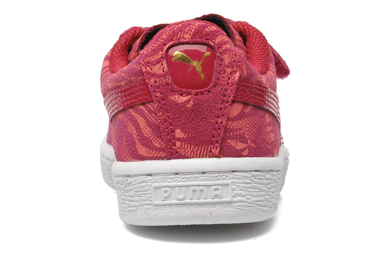 Baskets Puma Suede ANIMAL V Kids Rose vue droite