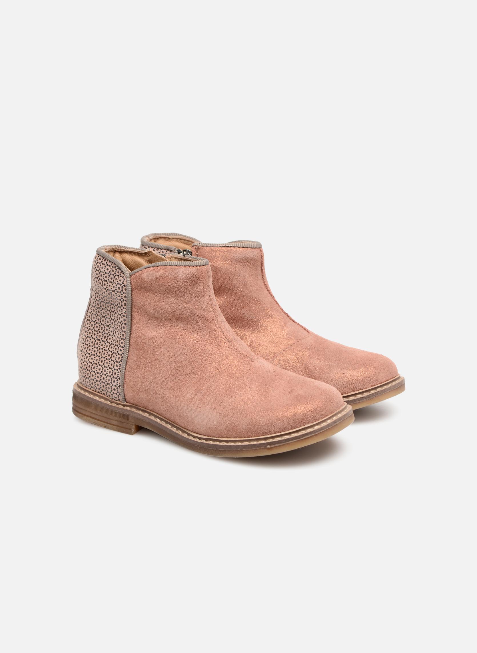 Bottines et boots Pom d Api RETRO BACK Rose vue 3/4