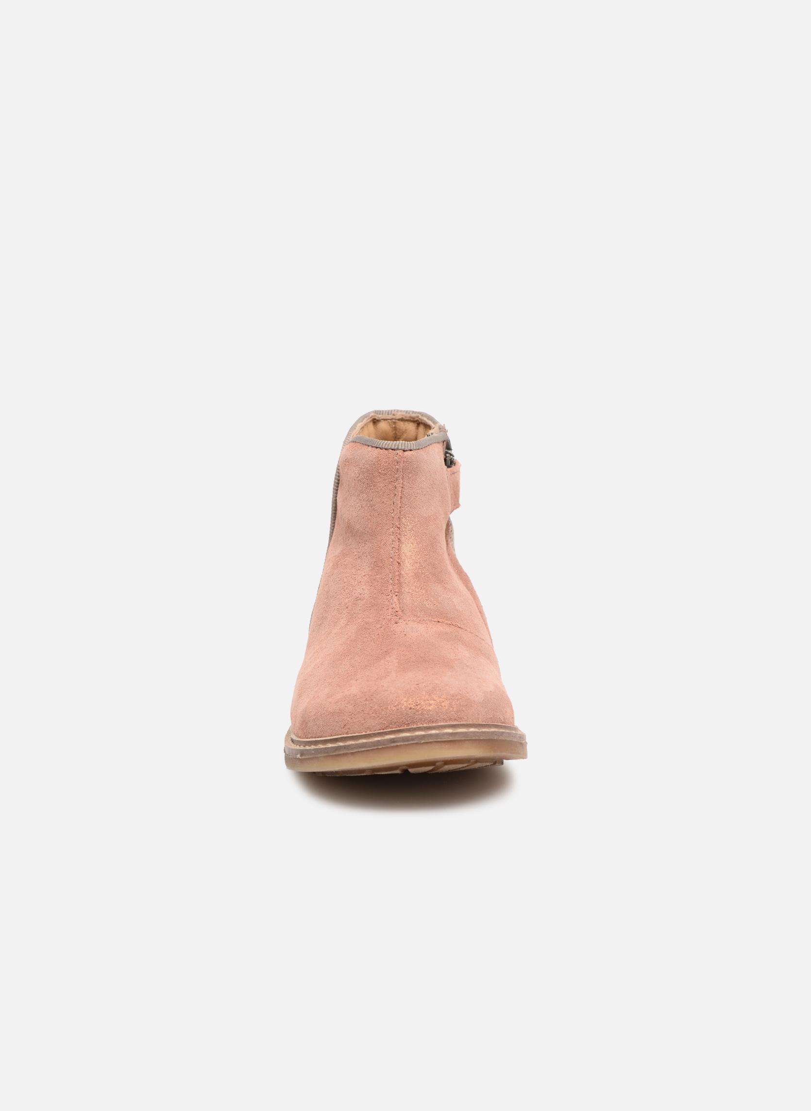 Stivaletti e tronchetti Pom d Api RETRO BACK Rosa modello indossato