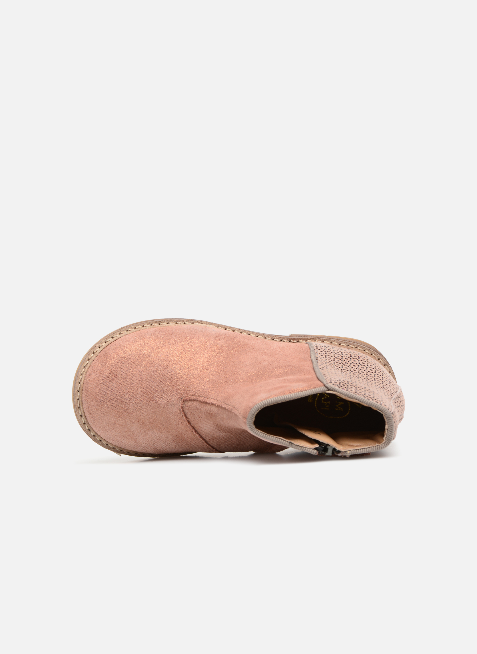 Stiefeletten & Boots Pom d Api RETRO BACK rosa ansicht von links