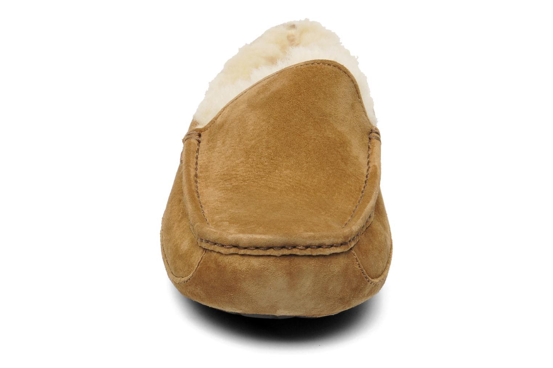Hausschuhe UGG Ascot beige schuhe getragen
