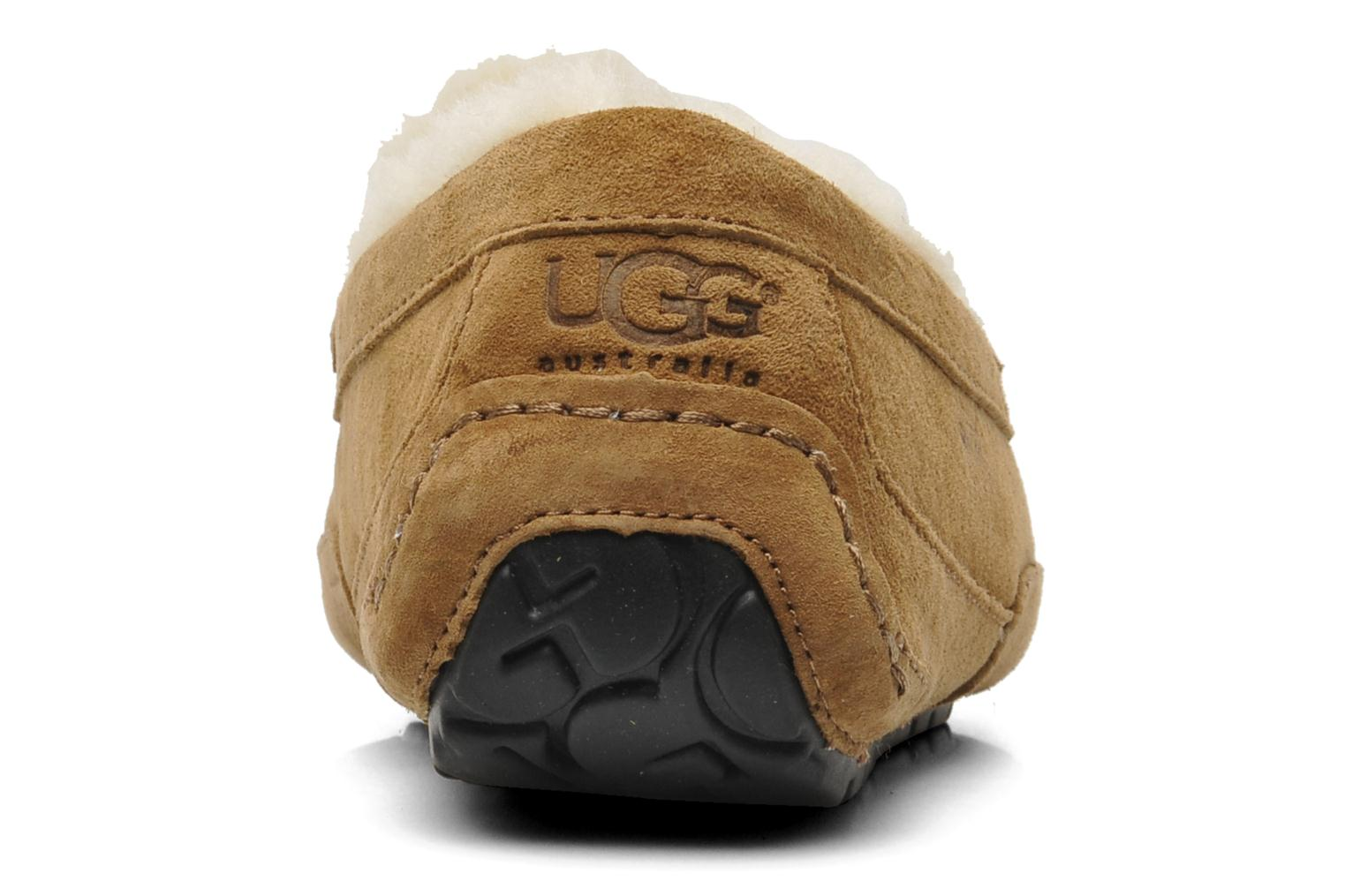 Chaussons UGG Ascot Beige vue droite