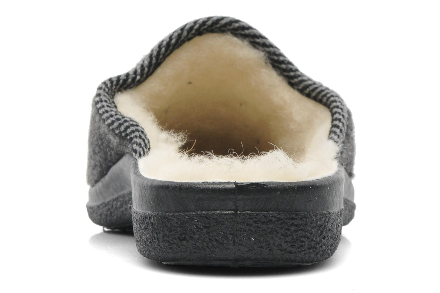 Slippers Rondinaud Gabillou Grey view from the right
