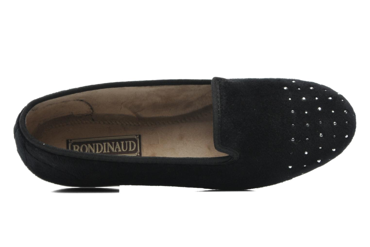 Slippers Rondinaud Bairols Black view from the left