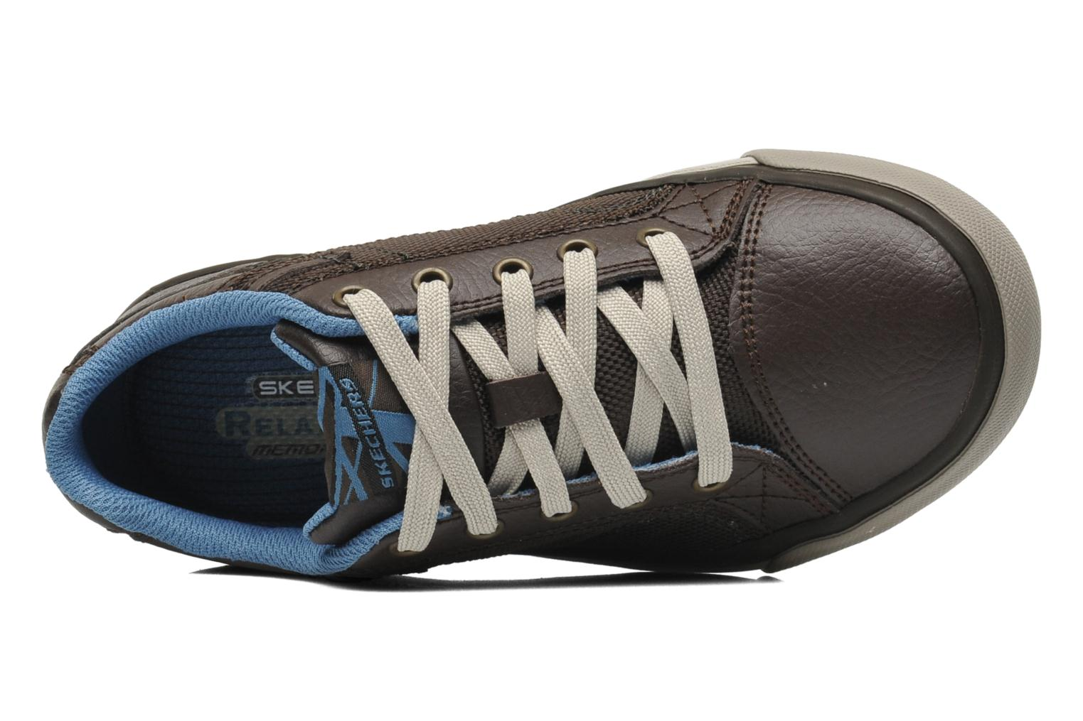 Trainers Skechers Diamondback Brown view from the left