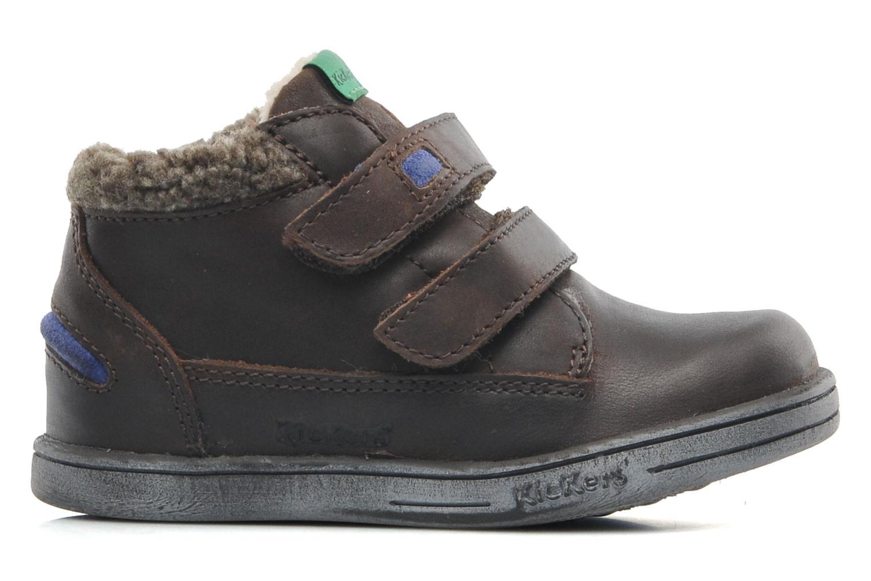 Chaussures à scratch Kickers Talker Cho Marron vue derrière