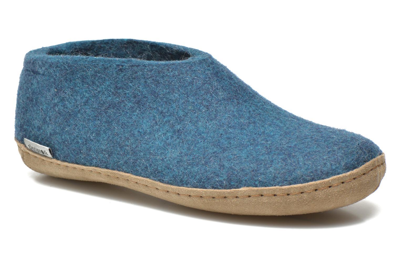 Hjemmesko Glerups Porter W Blå detaljeret billede af skoene