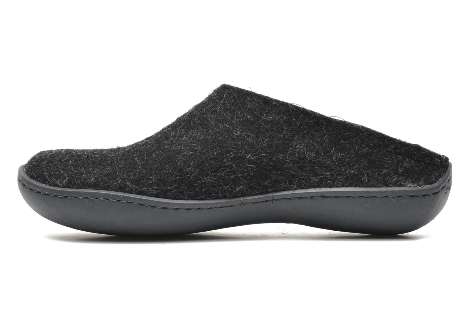 Slippers Glerups Piras Gomme W Black front view