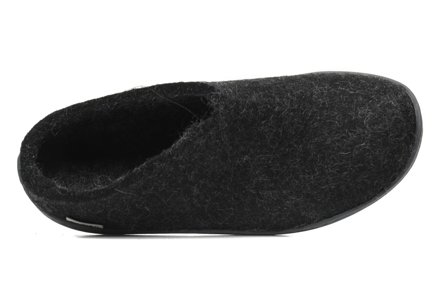 Slippers Glerups Piras Gomme W Black view from the left