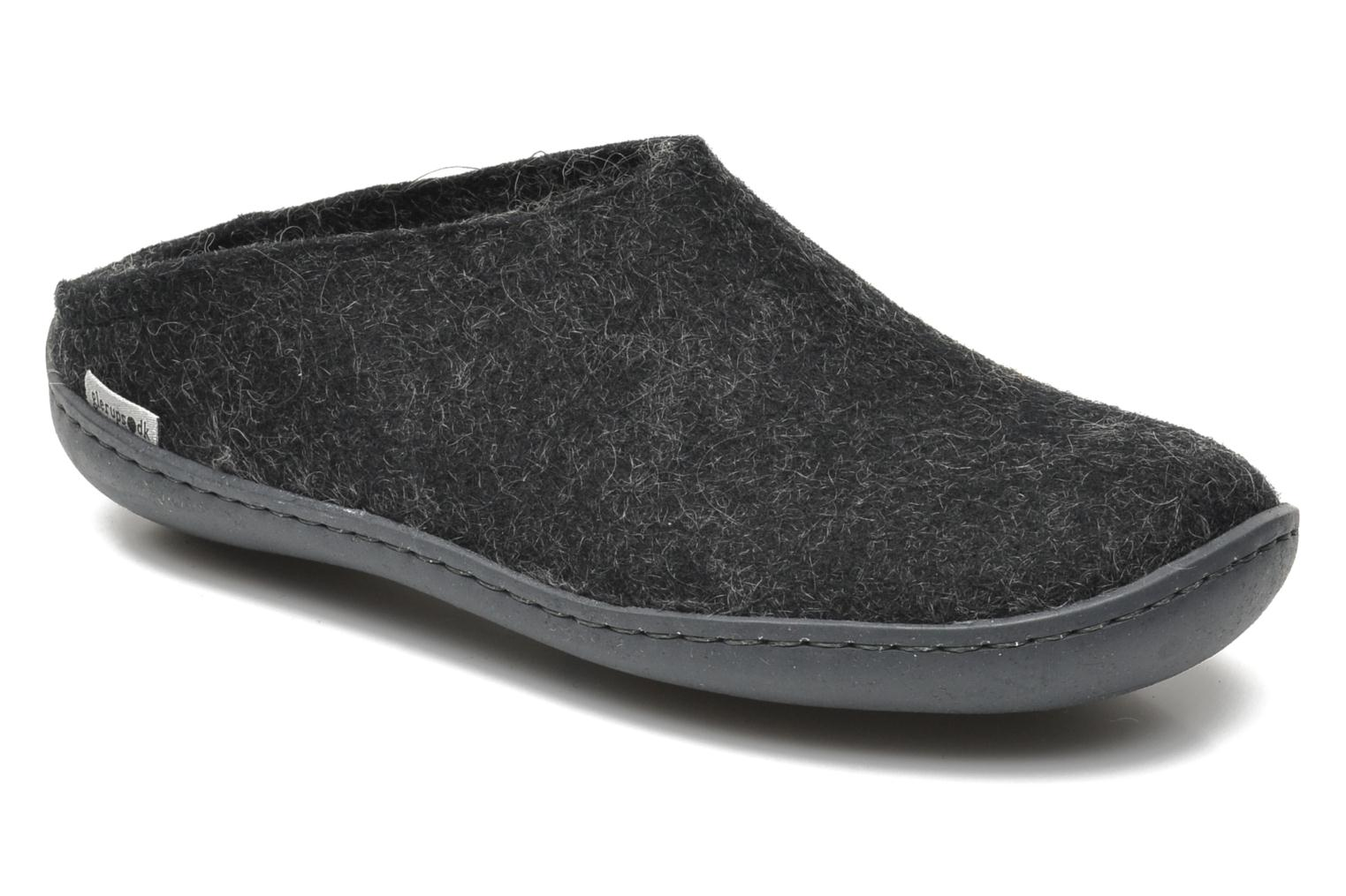 Slippers Glerups Piras Gomme W Black detailed view/ Pair view