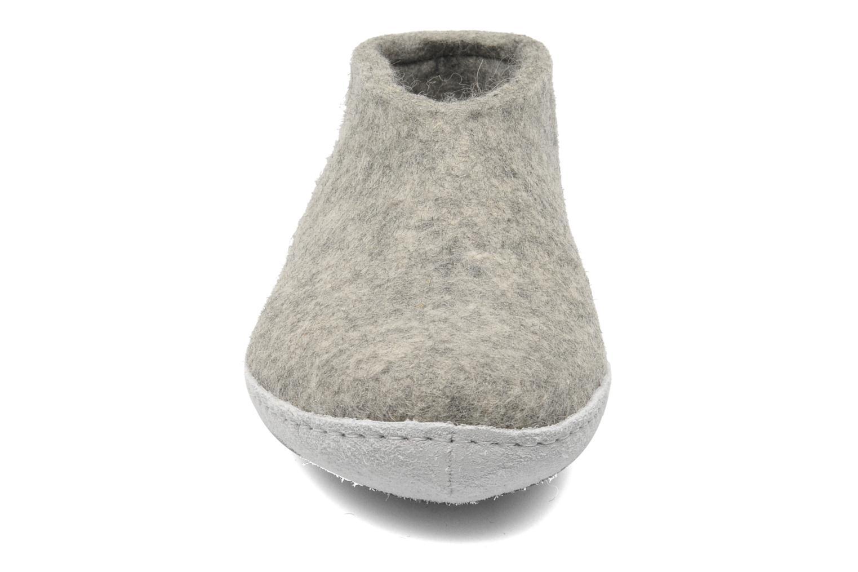 Hausschuhe Glerups Porter M grau schuhe getragen