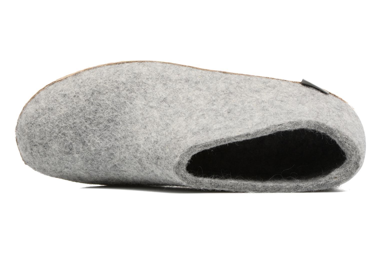 Hausschuhe Glerups Porter M grau ansicht von links