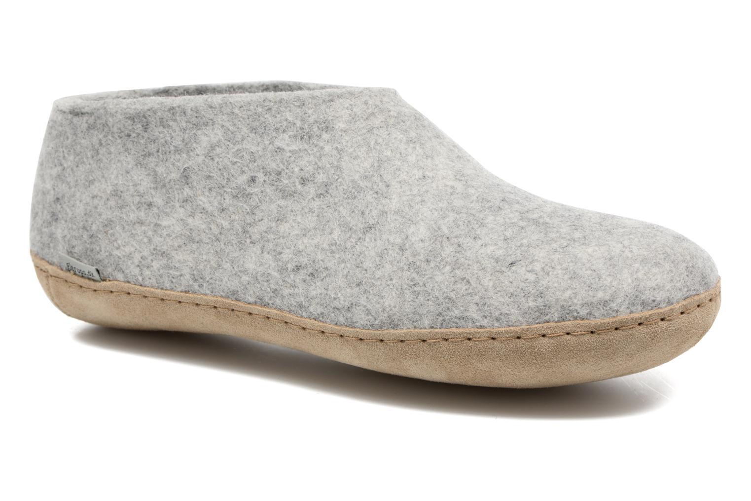 Slippers Glerups Porter M Grey detailed view/ Pair view