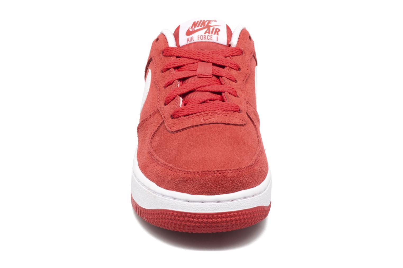 Baskets Nike Air Force 1 (Gs) Rouge vue portées chaussures