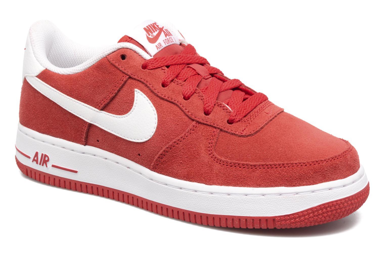 Baskets Nike Air Force 1 (Gs) Rouge vue détail/paire