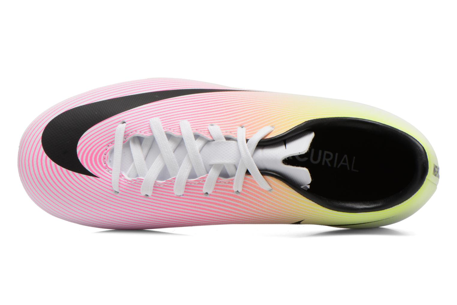 Jr Mercurial Victory V Fg White Black-Volt-Total Orange