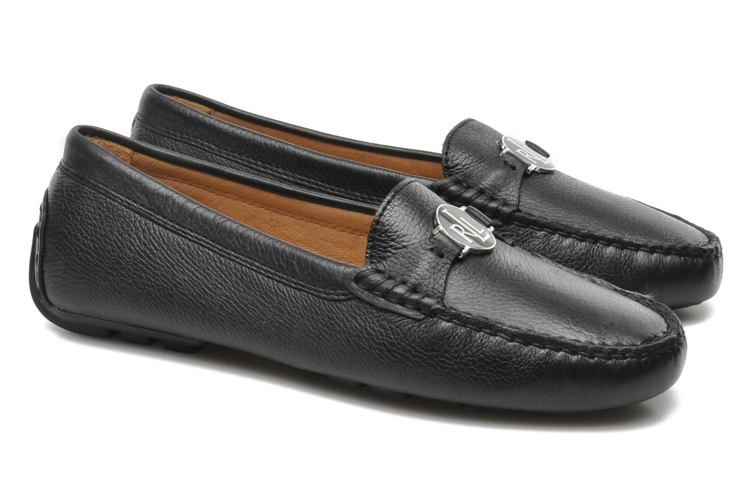 Mocassins Lauren by Ralph Lauren Carley New Noir vue 3/4
