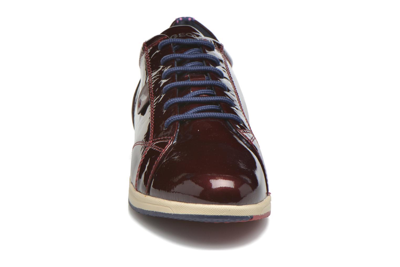 Sneaker Geox D AVERY B D44H5B weinrot schuhe getragen
