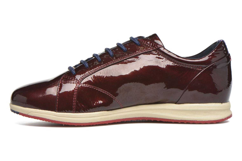 Sneakers Geox D AVERY B D44H5B Bordeaux voorkant