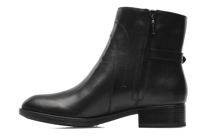 Boots en enkellaarsjes Geox D FELICITY ABX D44X9A Zwart voorkant