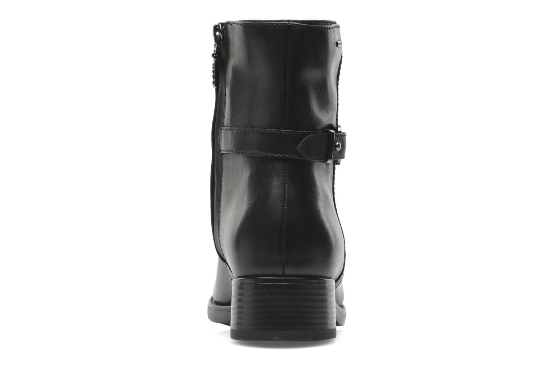 Boots en enkellaarsjes Geox D FELICITY ABX D44X9A Zwart rechts