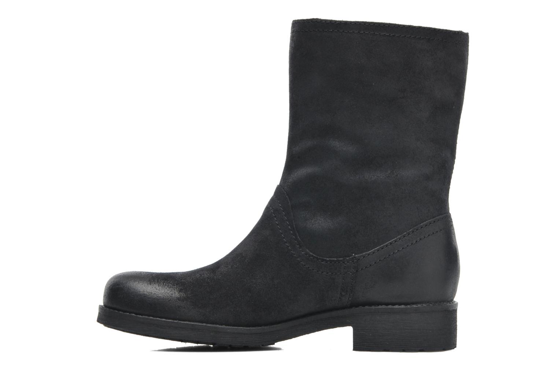 Boots en enkellaarsjes Geox D NEWVIRNA C D4451C Zwart voorkant