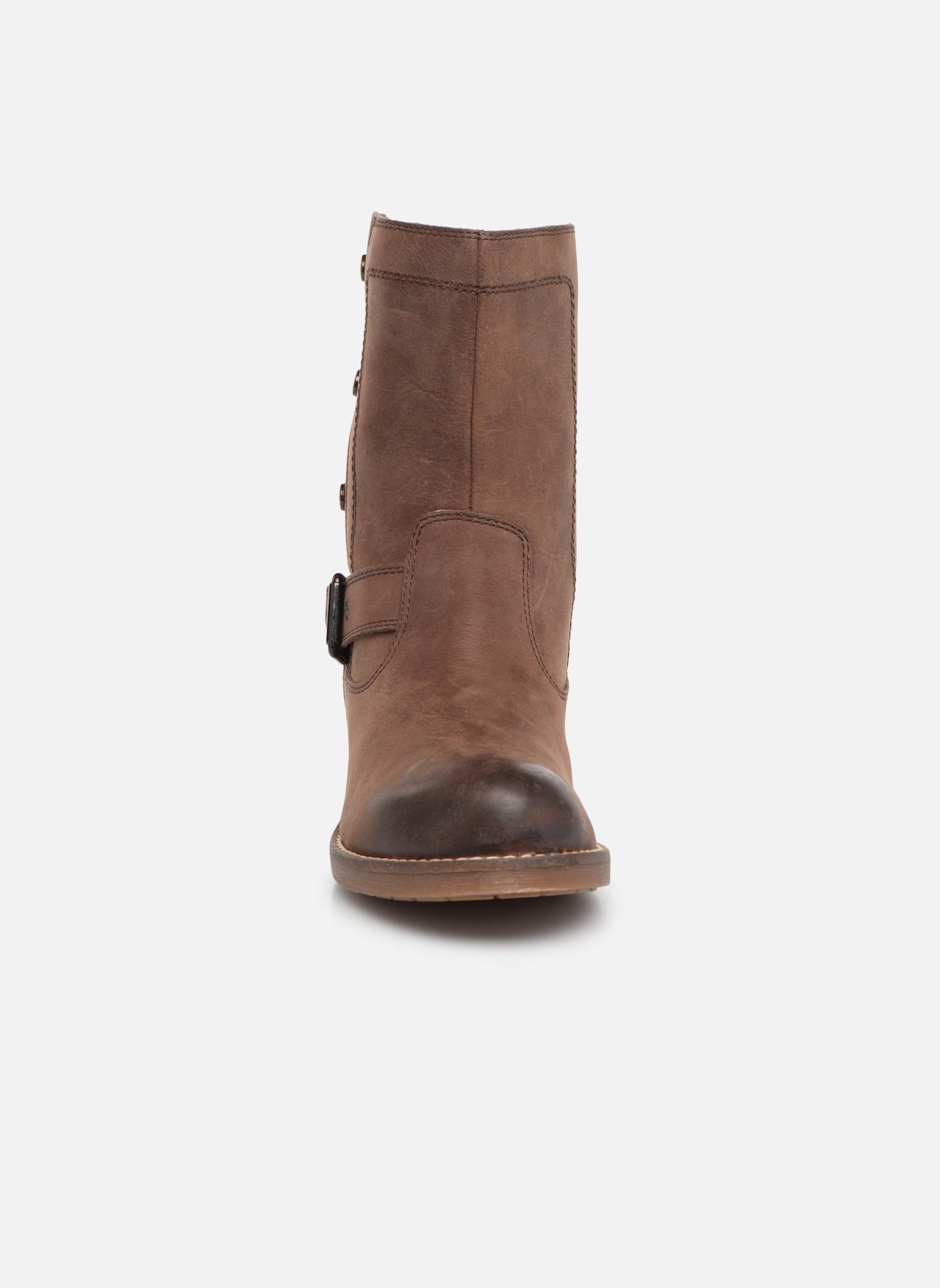 Bottines et boots Geox D VIRNA B ABX D44N5D Marron vue portées chaussures